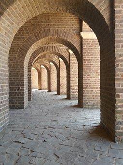Xanten, Arches, Arcades, Arch, Gang