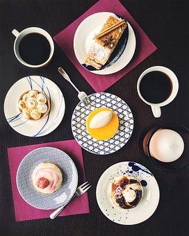 Table, Dessert, Coffee, On The Table, Cake, Americano