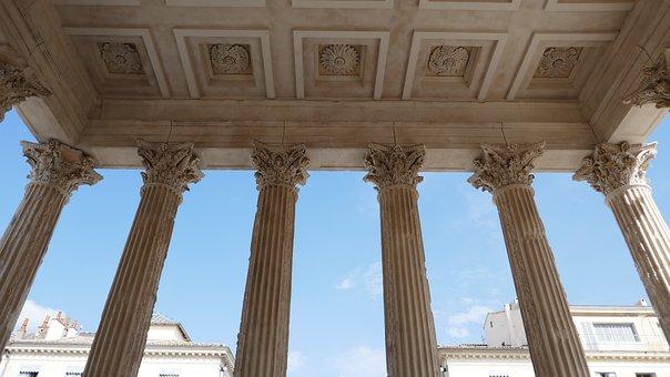 Corinthian, Columns, Maison Caree, Nimes, Roman