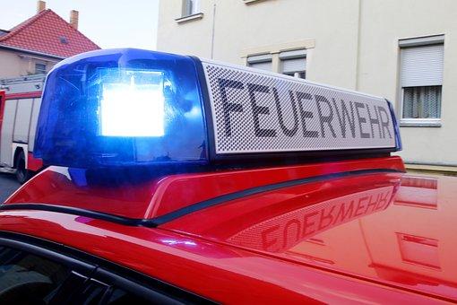 Fire, Brand, Fire Truck, Fire Fighter, Blue Light