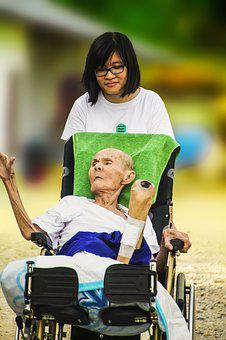 Hospice, Young And Old, Caring, Elderly, Old, Care