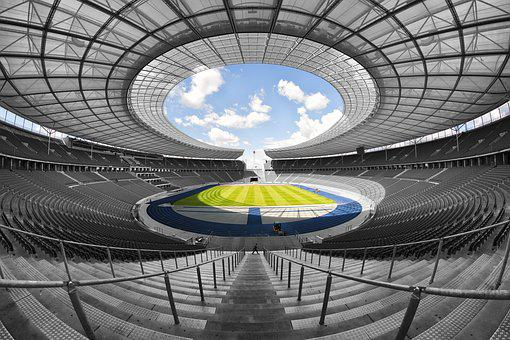 Olympic Stadium, Berlin, 1936, Symmetrical, Interior