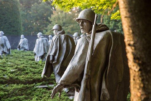 Korean War Memorial, Washington Dc, Soldiers, Army