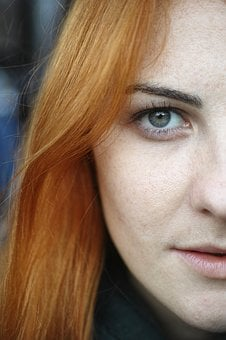 Redhead, Hairstyle, Looking At Camera, Halvorson, Lips