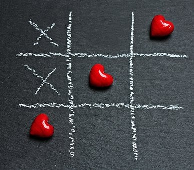 Tic Tac Toe, Love, Heart, Play, Ankreuzen