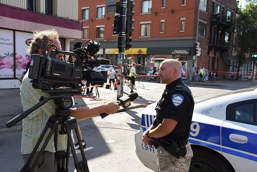 Police, Interview, Montreal, Quebec, Canada, Spam