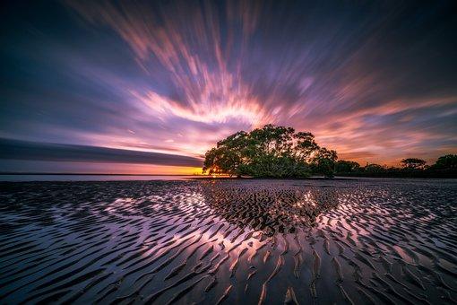 Landscape, Reflection, Waves, Ripples, Colour