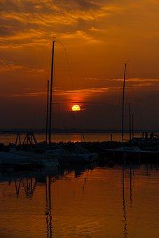 Lake, Boats, Porto, Sky, Sunset, Vela, Boat, Italy