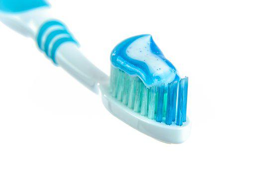 Toothpaste, Toothbrush, White, The Background