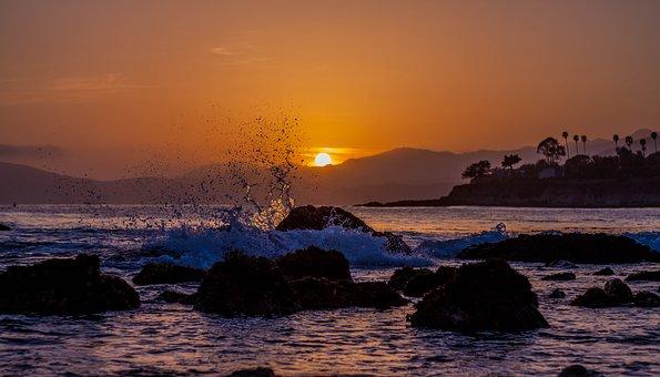 Beach, Sunset, Sand, Ocean, Beach Sunset, Travel