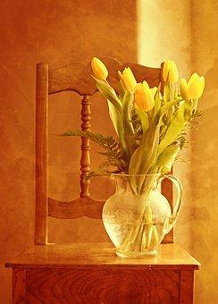 Tulip Bouquet, Tulips, Bouquet, Vase, Flower Vase