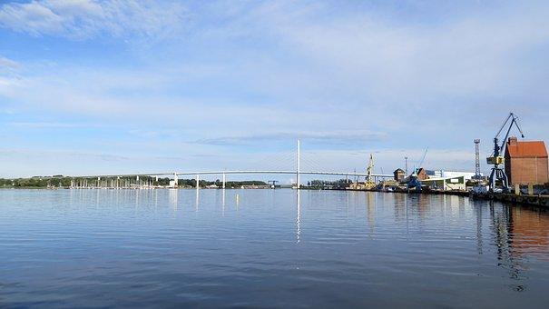 Stralsund, Port, Bridge, Connection-mainland, Holiday