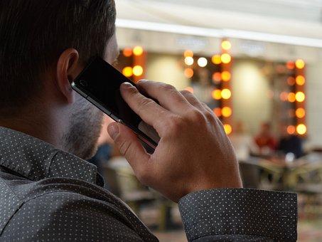 Man Talking On The Phone, Smartphone, City