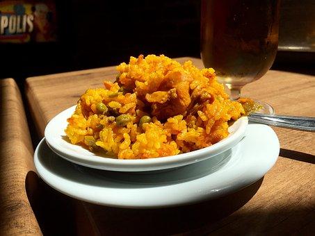 Paella, Spain, Spanish, Rice, Food, Yellow, Dish, Tapas