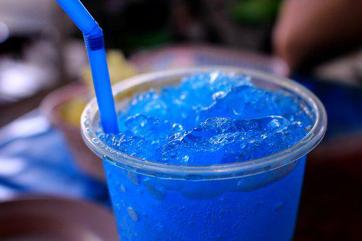 Blue Hawaii, The Cocktails, Drink, Alcohol, Glass, Ice