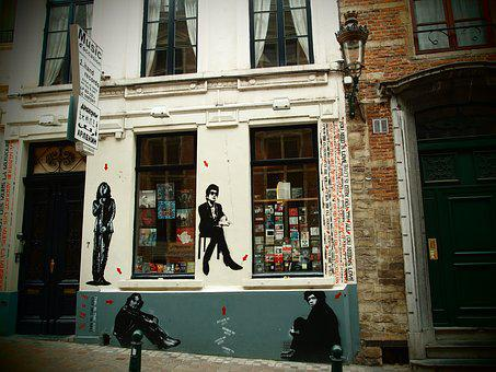 A Music Shop, Musicians, Street Art, Graffiti
