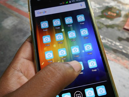 App, Photography, Phone, Hand, Icon