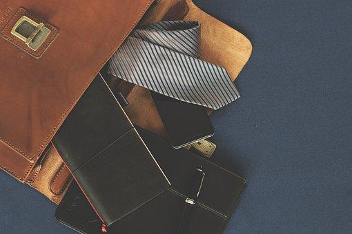 Briefcase, Leather Goods, Accessories, Men's Fashion