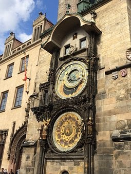 Old, Clock, Mechanical, Prague, Face, Mechanism, Time