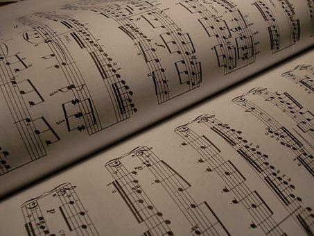 Scores, Music, Background, Composing, Treble Clef