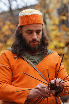 Craftsman, Handicraft, Orange, Costume, Middle Ages