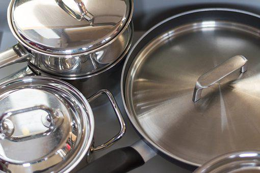 Pans, Lids, Cooking, Kitchen Drawer, Kitchen, Metal