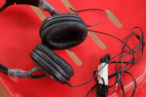 Red, Sound, Tune, Music, Headphone, Listen