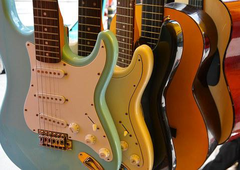 Guitars, Musical, Music, Instrument, Rock, Playing