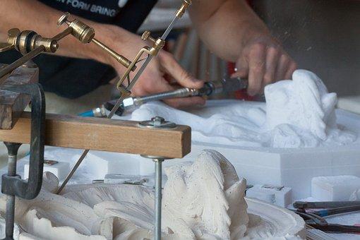 Sculptor, Steinmetz, Arts Crafts, Marble, Fish