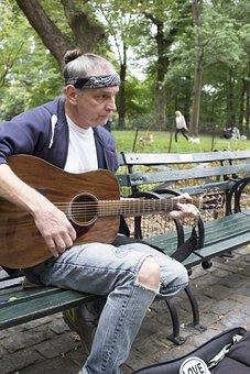 Street Musician, Music, Homeless, Street, Musician