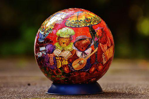Puzzle Ball, Bear, Teddy, Music, Puzzle, Play, Tricky