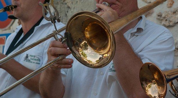 Musician, Trombone, Street Musician, Musical Instrument