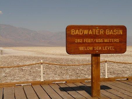 Badwater, Badwater Basin, Salt Pan, Salt Lake, Salt