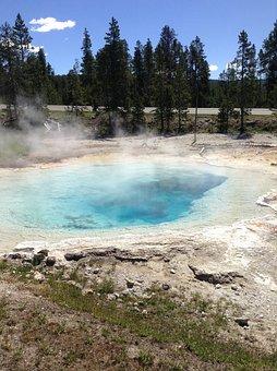 Abyss, Old Faithful, Basin, Blue, Color, Eruption