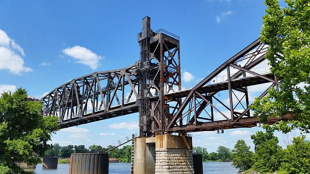 Little Rock, Arkansas, Bridge, Train