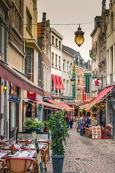 Brussels, Belgium, City, Old Town, Alley