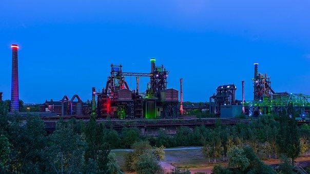 Landscape Park, Duisburg, Factory, Ruhr Area, Industry