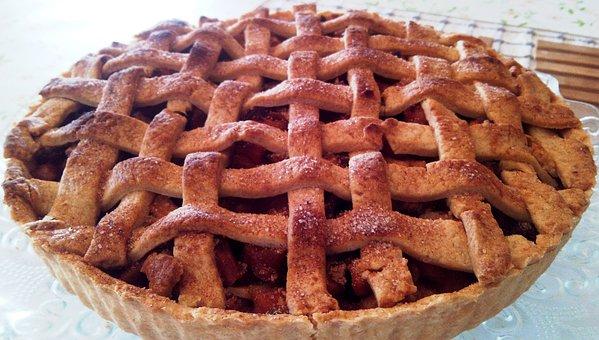 Apple, Pie, Lattice, Dessert, Crust, Thanksgiving