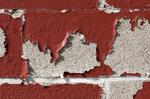 Old, Paint, Cracked, Chipped, Peeling, Red, Vintage