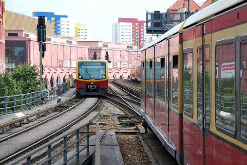 Berlin, Train, S Bahn Bridge, S Bahn, Railway Station