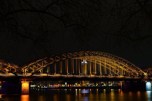 Hohenzollern Bridge, Rhine, Cologne, Bridge, River, Dom