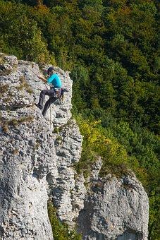 Climb, Climber, Rock, Abseil, Bergsport, Climbing Rope