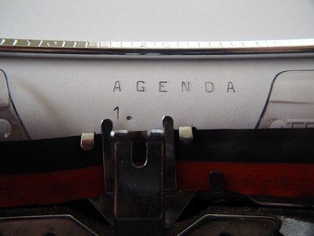 Agenda, Typewriter, Leave, Old, Office, Retro, Tap