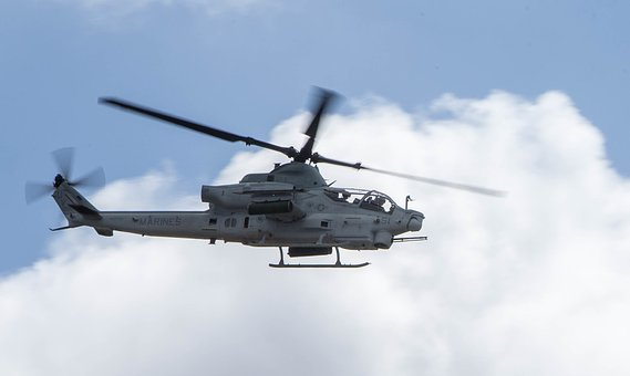 Ah-1z Viper, Attack Helicopter, Aviation, Aircraft, Sky