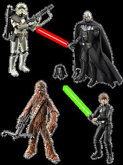Figures, Star Wars, Isolated, Figure, Film, Laser Sword