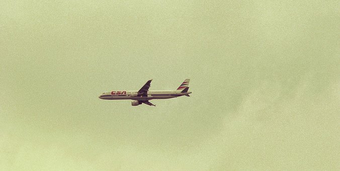 The Plane, Flight, Sky, The Height Of The, Airfare