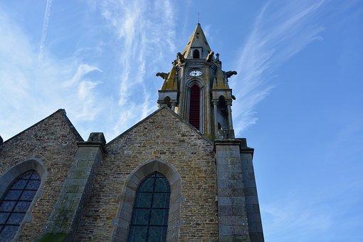 Bell Tower, Church Meillac, Heritage, Gargoyles