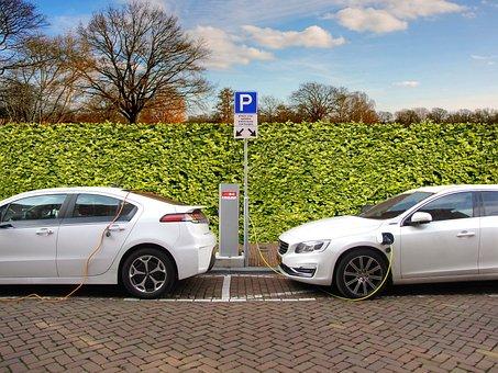Electric Car, Hybrid Car, Charging, Charging Post
