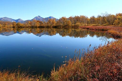 Autumn, Lake, Mountains, Reflection, Forest