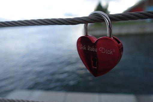 Love, Romantic, Heart, Lock